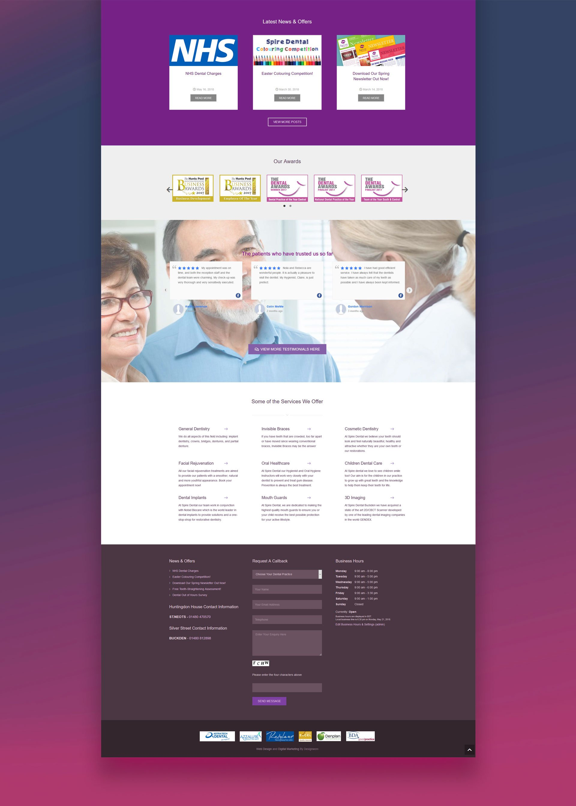 Spire Dental Website Design 3