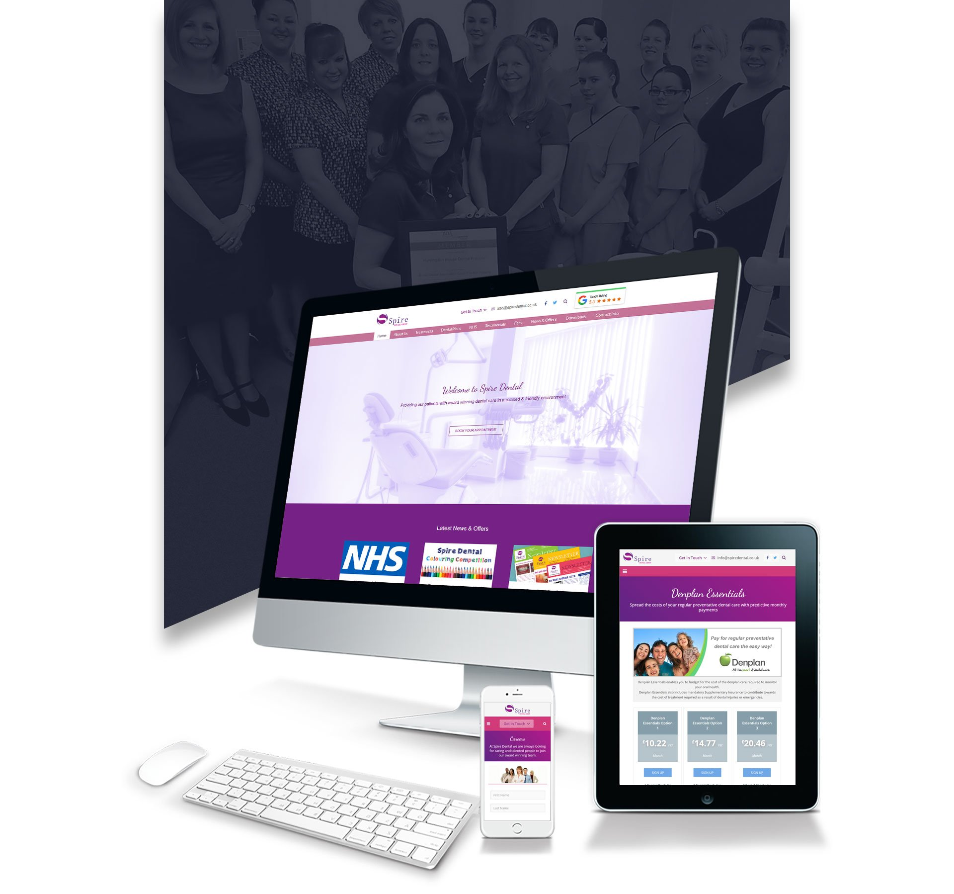 Website Design spire dental 1