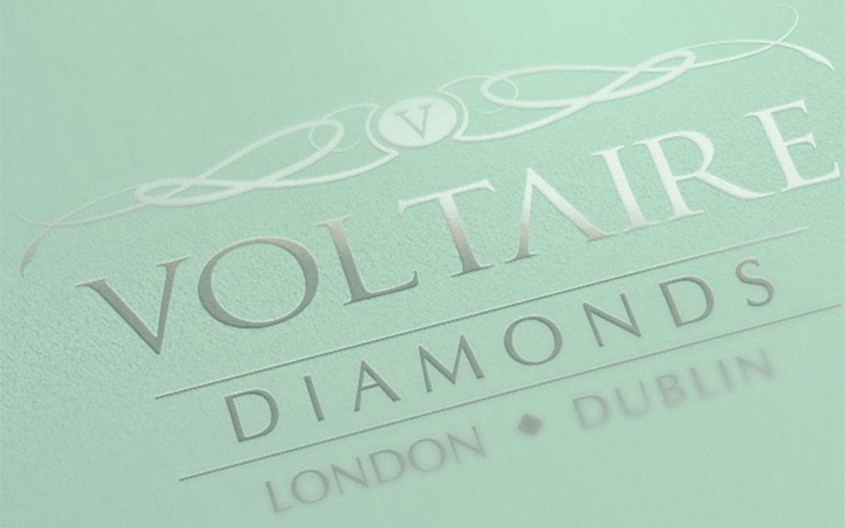 Voltaire Diamonds Logo Brand design